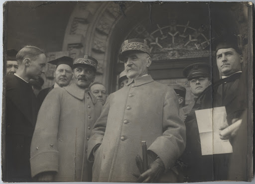 Marshal Ferdinand Foch and others at Rockhurst Academy, Kansas City, Missouri.