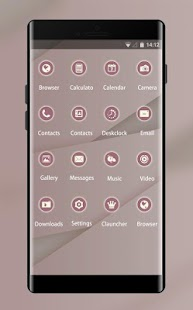 Stylish Pink Theme: Simple Lines Wallpaper - náhled