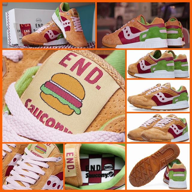"sports shoes 76999 28953 END. x Saucony Shadow 5000 ""Burger"" - CNSMNT"