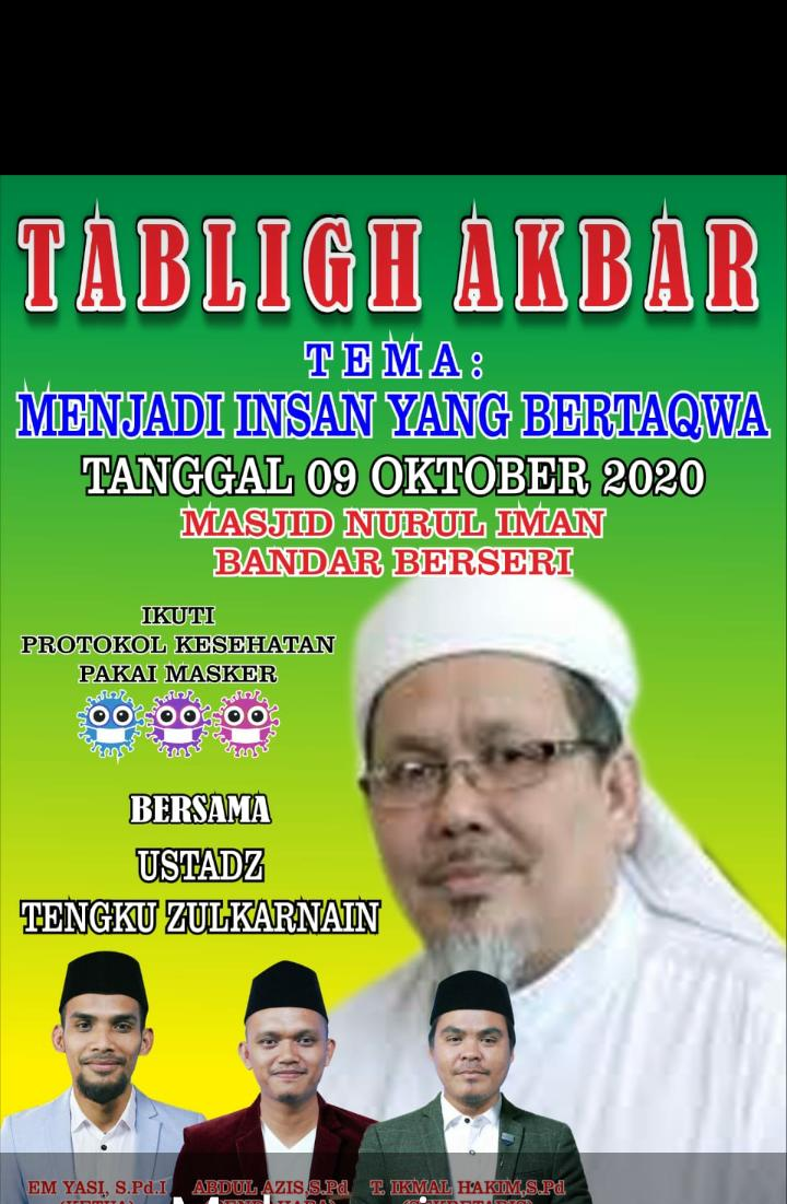 Lagi, Tabligh Akbar UTZ di Bandar Durian : ' Simbol Dakwah dan Perjuangan Tak Pernah Padam'
