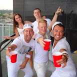 drinks on the balcony in Toronto, Ontario, Canada