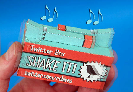 Twitter Box Papercraft