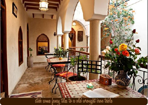 Easy makeover ideas from a moroccan b b dress your home for Courtyard landscape oostburg wi