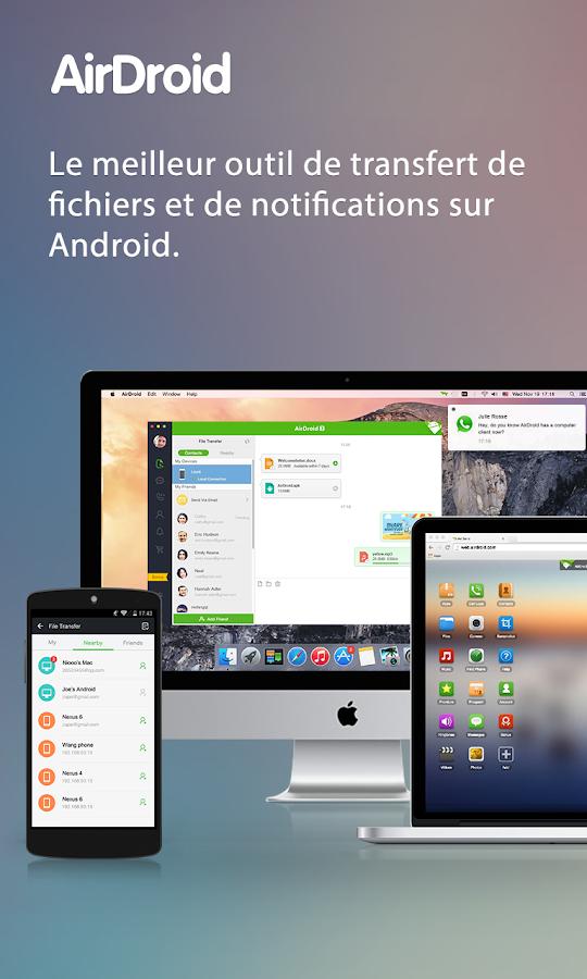 AirDroid - Android sur PC/Mac– Capture d'écran