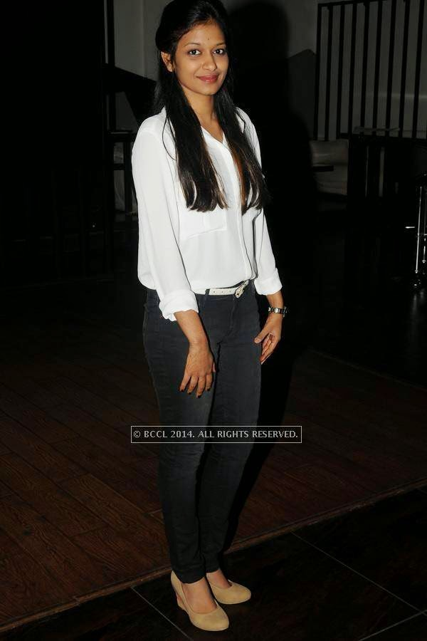 Sneha at Anmol's birthday party, held in the city.