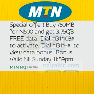 MTN WOW Weekend: Get 4.5GB for N500