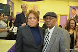 En primer plano, Alejandrina Germán, Ministra de la Mujer de la República Dominicana, y miembro del Comité Político del Comité Central de nuestro PLD, junto a Gregorio Reyes.