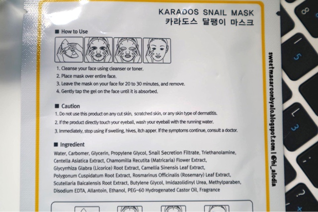 Cherimoa Karados Sheet Mask