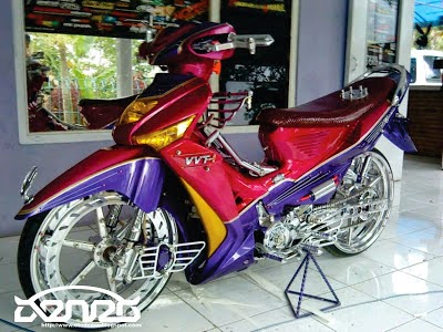 Supra Fit Modifikasi Drag