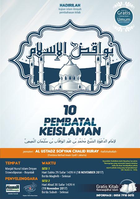 10 Pembatal Keislaman