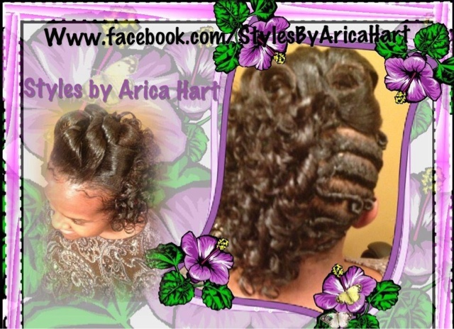 Rod hair styles for black women, black hairstyles, spiral curls hairstyles