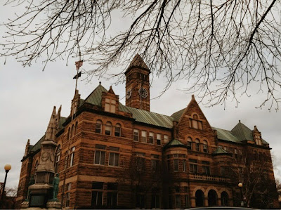 dreary, building, victorian, old, architecture