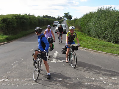 group arriving at junction