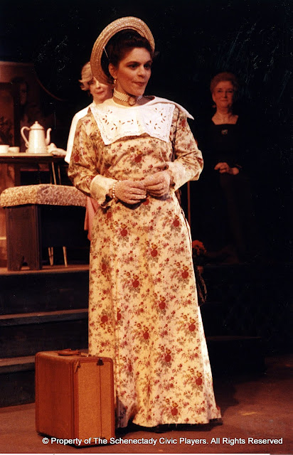 Kathy Yezzi, Laura LaTorre and Pearl Albrechtson in in LOOK HOMEWARD, ANGEL (R) - March 1994.  Property of The Schenectady Civic Players Theater Archive.