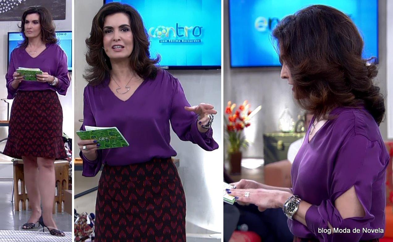 moda do programa Encontro - look da Fátima Bernardes dia 3 de julho