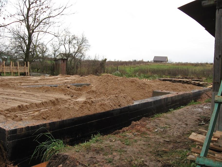 песок в фундаменте