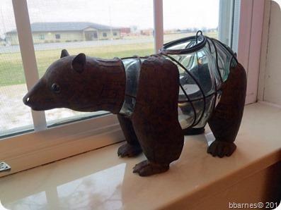 Bear candle 04232017