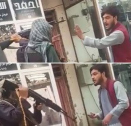 Taliban beat Kabul man with rifle, AK 47 for playing music on his phone (video)
