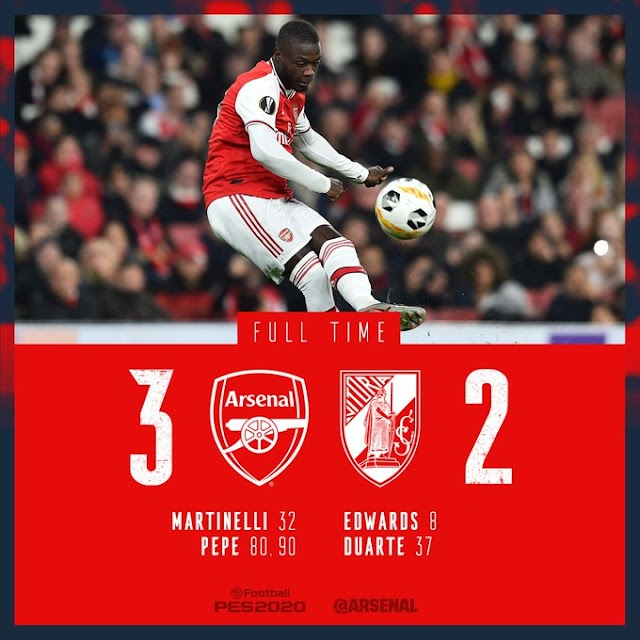 [DOWNLOAD VIDEO] Arsenal vs Guimaraes 3-2 – Pepe proved himself with two outstanding kicks