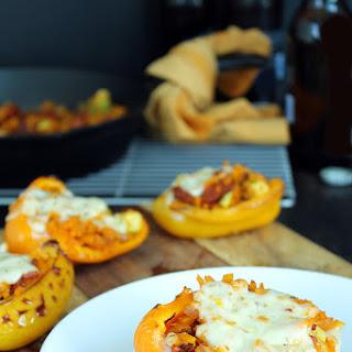 Chorizo, Avocado & Butternut Squash Rice Stuffed Peppers.
