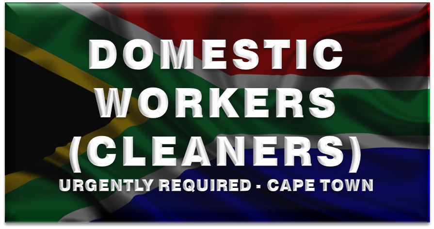 domestic workers cleaners urgently required