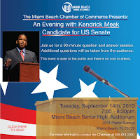 An Evening with Kendrick Meek, Candidate for US Senate