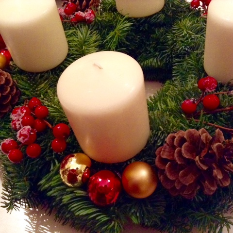 Handmade German Advent wreath