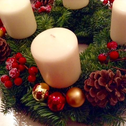 Handmade German Advent wreath