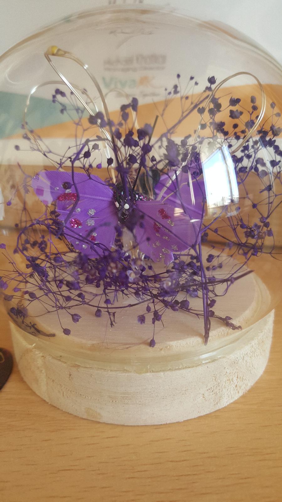 Purple LED Butterflies Orb VivaMK Network