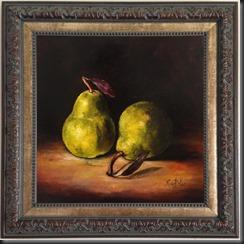 Bottle Apples framed