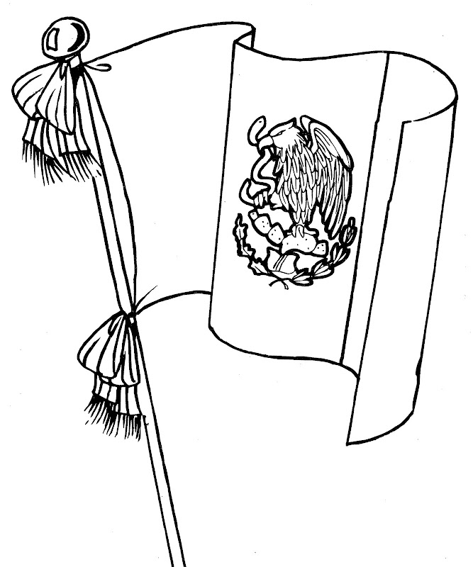Dibujos para colorear de la bandera de México