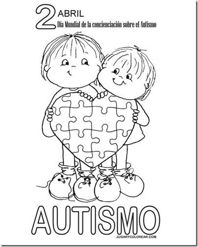Colorear Concienciación Sobre El Autismo 2 Abril