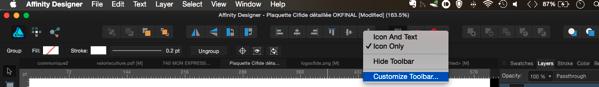 Comment restaurer les boutons dans la barre d'outils d'Affinity Designer, A Unix Mind In A Windows World