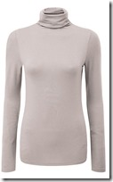 Pure Collection fine jersey roll neck top in silver