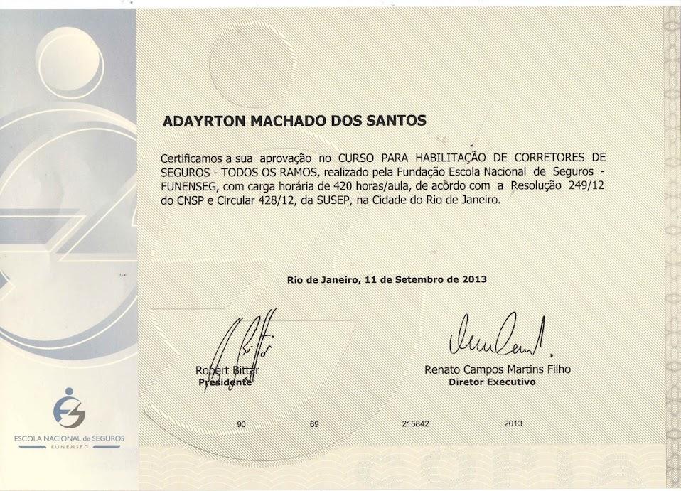 Certificado Curso Funenseg