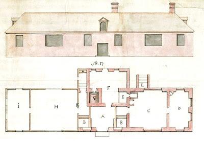 План дома, выполненный Й.Тайхертом в 1753 году