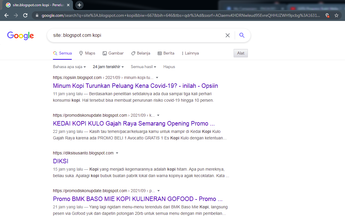dork google untuk  blogger