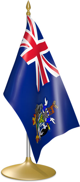 South Georgia or  South Sandwich Islands table flags - desk flags