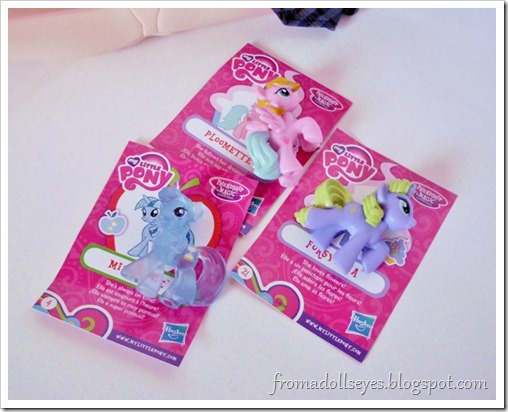 My Little Pony blind bag figures, perfect size for dolls.
