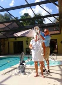 "Janet Dyer doing the ""Ice Bucket Challenge"