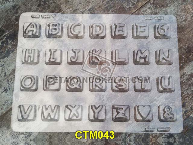 cetakan coklat cokelat huruf abjad alfabet CTM43 CTM043 mold