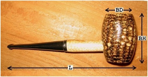 Aristocob Missouri Meerschaum Corn Cob Pipe Chart from Aristocob.com