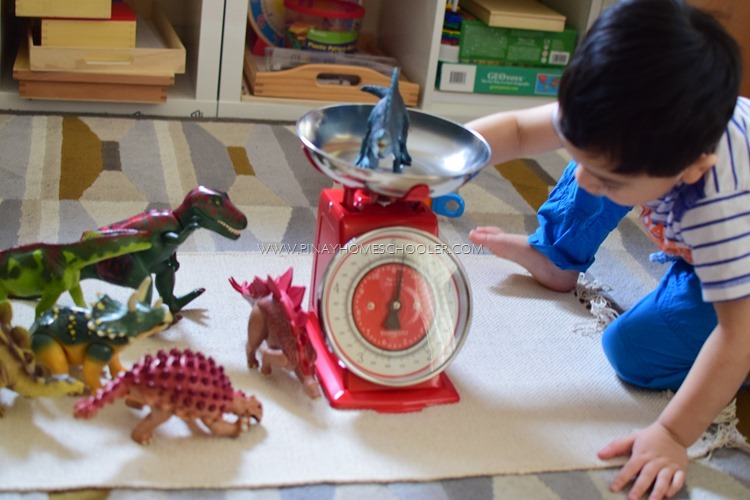 WEIGHING DINOSAURS