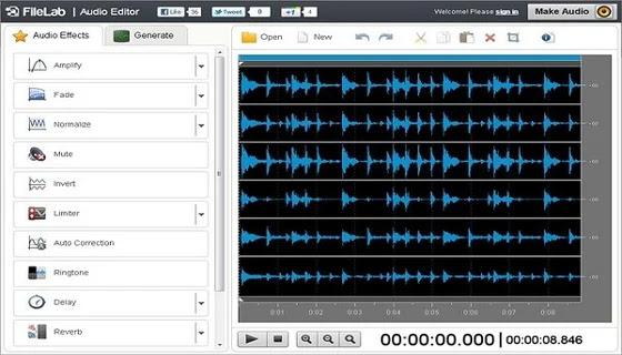 قاطع الصوت FileLab Audio Editor