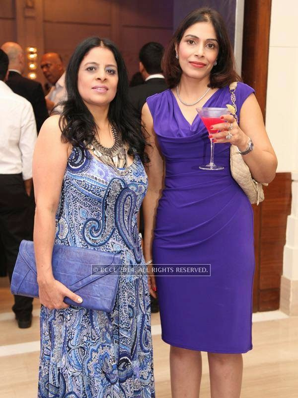 Arthi and Anu at the RNGM golf event that was held at the Mysore Hall at the ITC Gardenia, Bangalore.