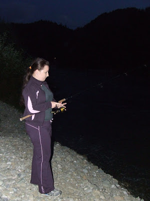 Fishing at night with my girlfriend - Natalia