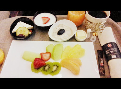 Breakfast! From What's It Really Like to Fly Turkish Airlines Business Class?