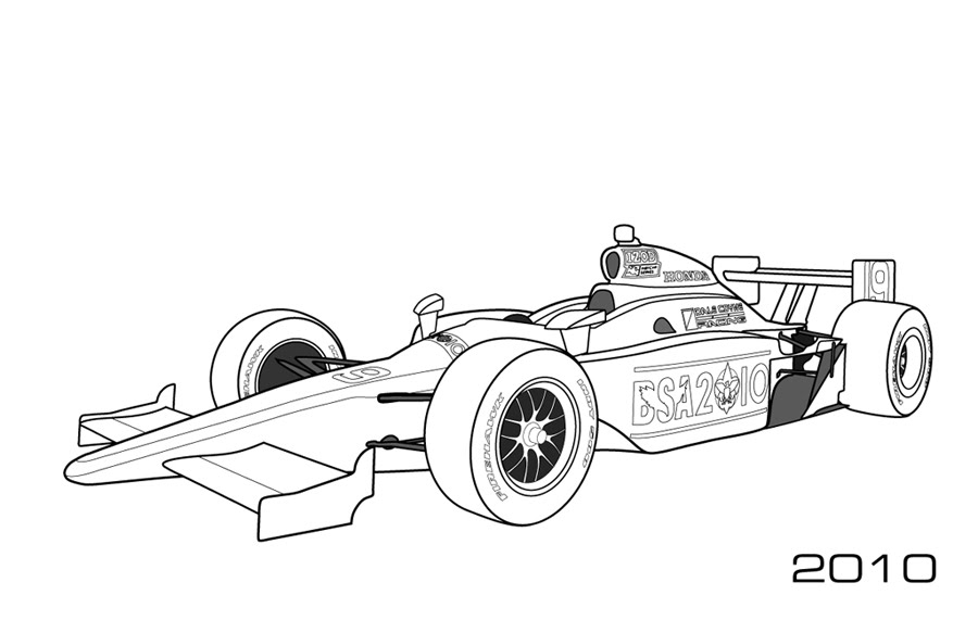 Modern Indy Cars Car Coloring