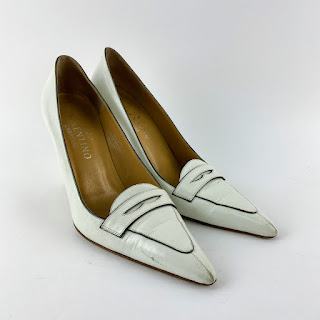 Valentino White Leather Pumps