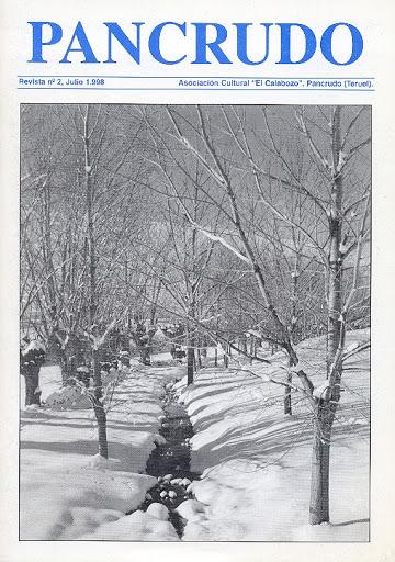Portada Revista Pancrudo nº2 (1998). Paisajes de Pancrudo, de Vicente Quilez Domingo